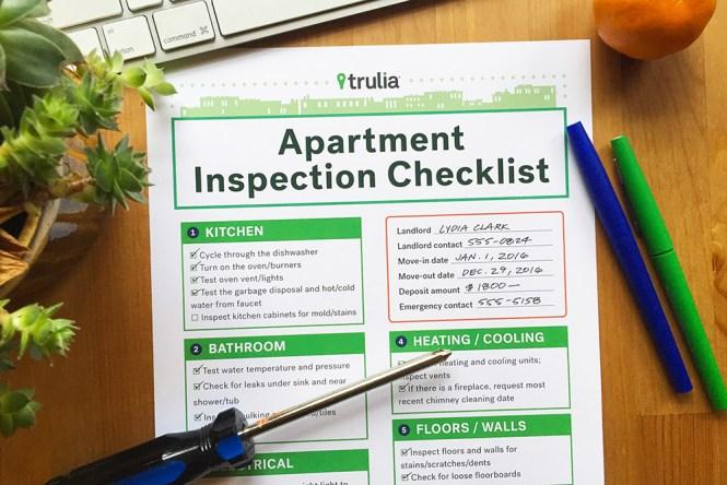 Trulia S Apartment Checklist For Al Inspections Real
