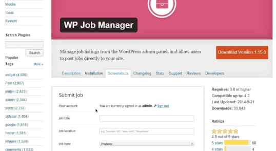 Traduction en français du plugin WP Job Manager