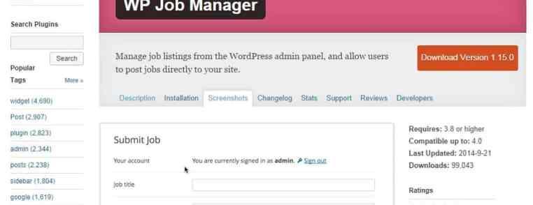 Traduction en français du plugin WP Job Manager