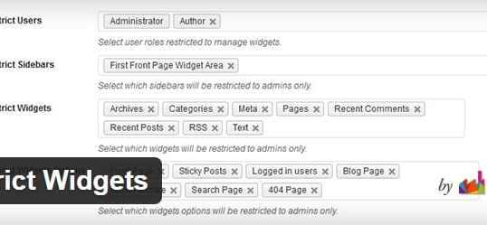 Traduction française de Restrict Widgets du plugin WordPress dFactory