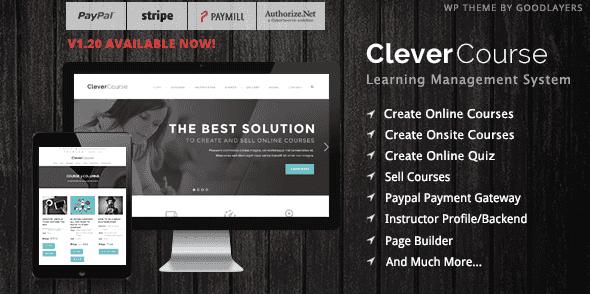 Le thème Clever Course utilise le plugin Goodlayers LMS et sa traduction en français pour fonctionner correctement.