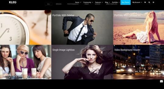 Capture d'écran d'un site WordPress équipé du thème Kleo dont voici la traduction en français.