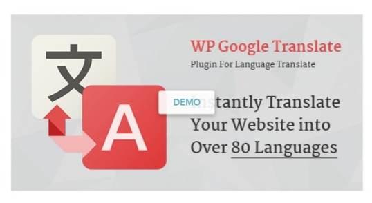 Fichiers .po et .mo de la traduction français de l'extension premium WordPress WP Google Translate