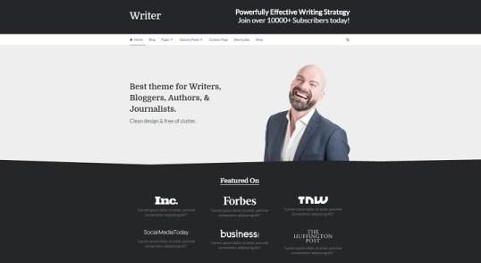 Traduction française du thème WordPress Writer