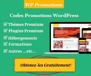 WP Promotions est un site web qui répertorie différentes promotions WordPress.