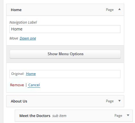 WordPress Tutorial - Deleting a menu <a href=