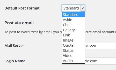 WordPress Tutorial- Set the Default Post Format in WordPress