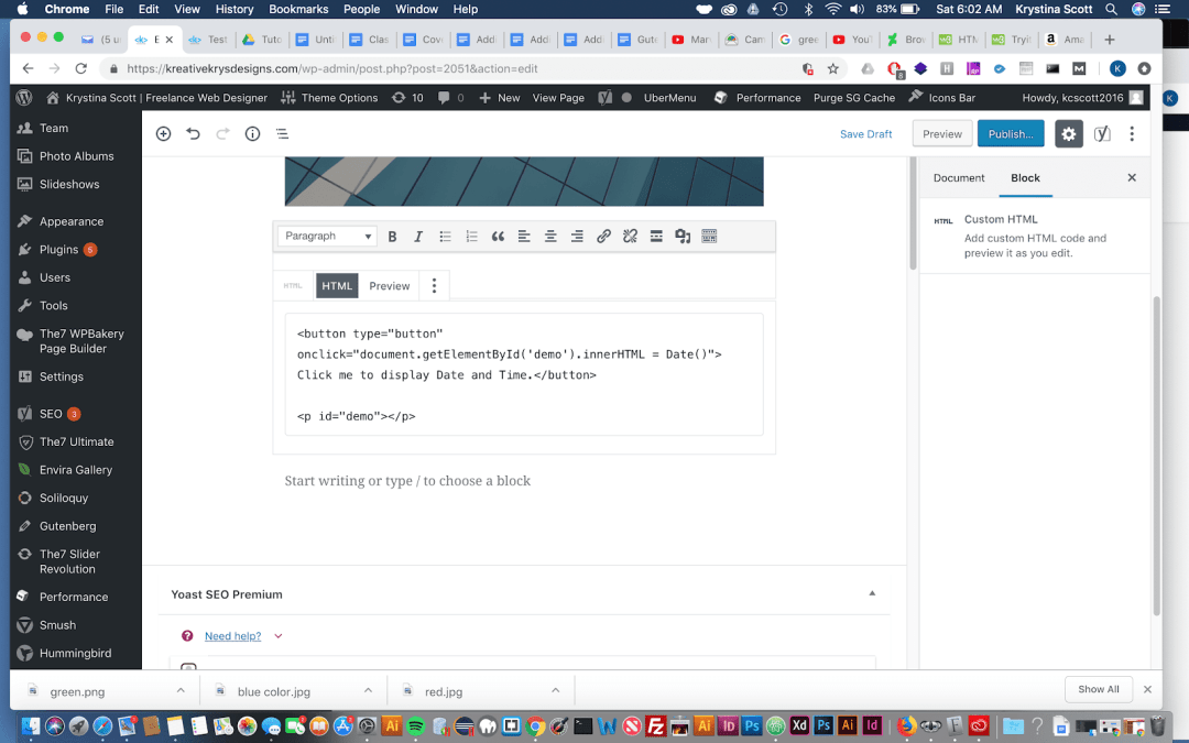 Adding HTML to Gutenberg – WordPress 5.0
