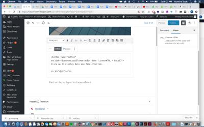 Adding HTML to Gutenberg – WordPress 5.0