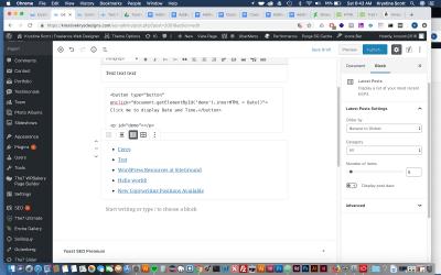 Adding the Latest Posts Block to Gutenberg- WordPress 5.0