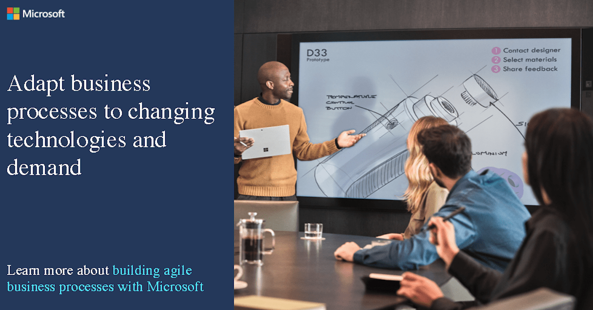 Adapt business processes to changing technologies and demand