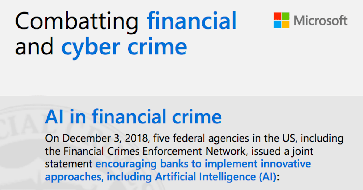 Combatting financial crime infographic
