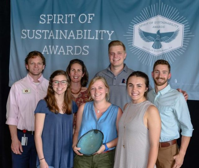 Photo Of Auburn Outdoors Staff Accepting Their Award