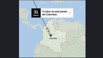 Chau Uber Colombia ¿Por qué Uber se va del país cafetero?