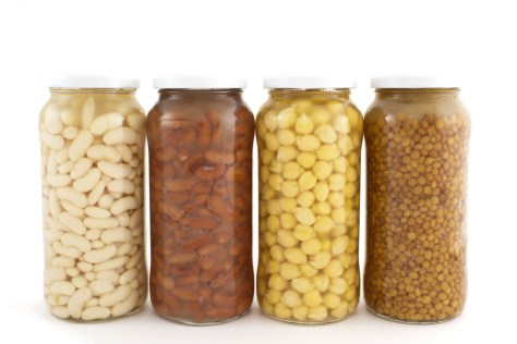 isolated of canned legumes