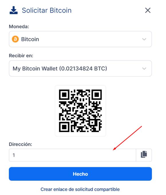 crear cuenta de BTC