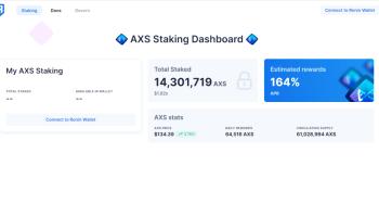¿Cómo hacer Staking de AXS?