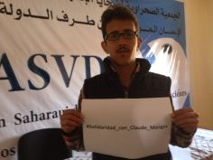 Message des militants au cours d'un jeûne organisé par la Ligue de Protection des Prisonniers Politiques Sahraouis