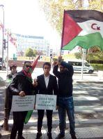 Manifestation de soutien devant le Conseil de l'Europe à Strasbourg