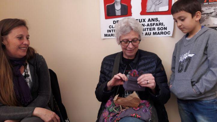Un premier cadeau d'anniversaire pour les 62 ans de Claude réalisé par Judith