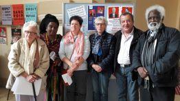 Gisèle Noubanche, Mohamed Kaoamy, Françoise Ehrmann (Ivry) et Mouloud Kacer (Vitry)