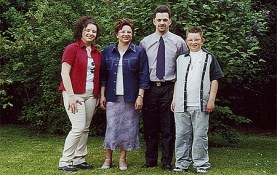De familie Engrie-Andries in 2001.