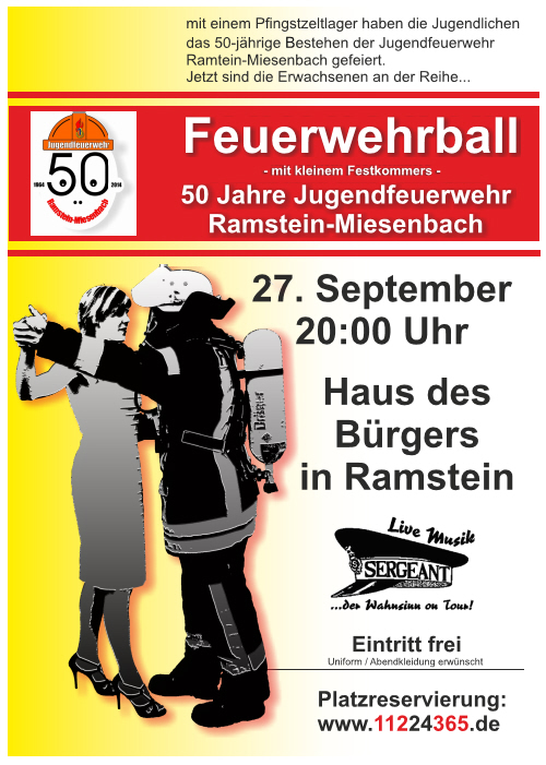 Feuerwehrball-Plakat