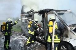 Brand eines Campingmobil bei Weinsheim
