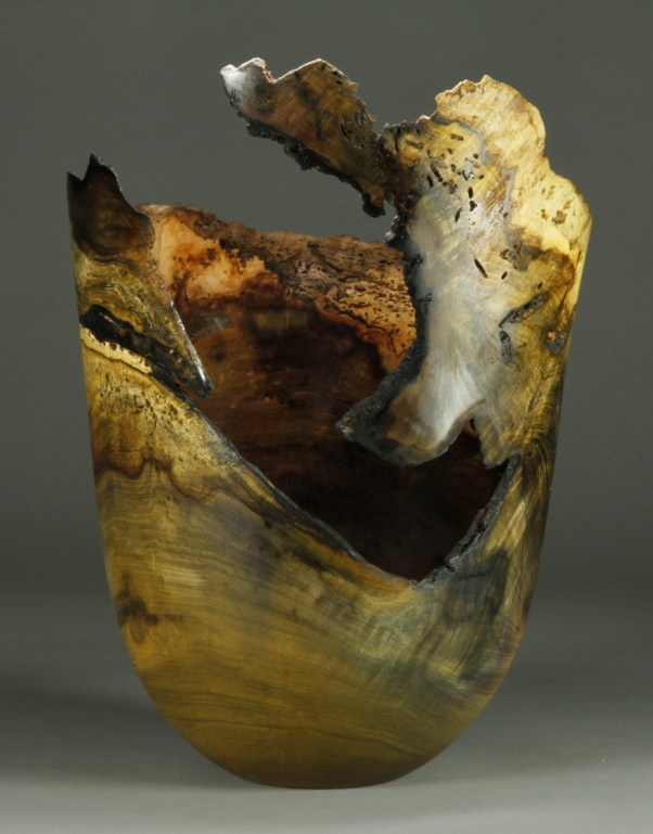 "#62. Jones Tulip Poplar Burl 11 1/2"" dia. x 15 1/2"" tall sold"