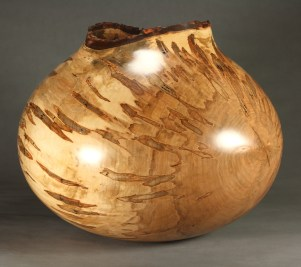 "Ambrosia Silver Maple 22"" x 20.5"" dia. x 17"" tall"