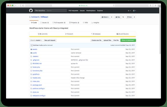 WordPress themes built with React - WReact WordPress theme