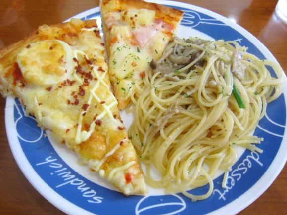 カフェルマーニのピザとパスタ