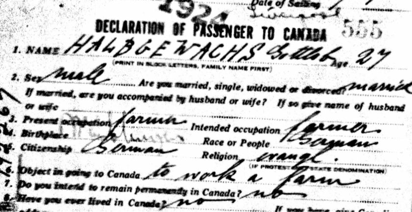Bron: Ancestry.ca