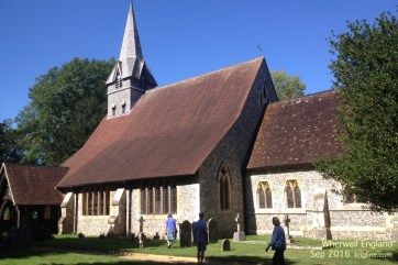 On Aug 30, Vivian found the name of a distant relative (Osgood family) in the Wherwell Church registry.