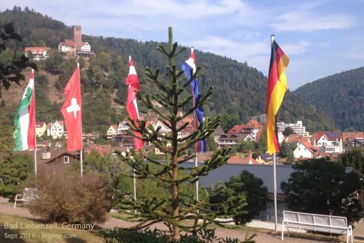 This view is from a university campus in Germany. With all this beauty to look at, how can anyone study?
