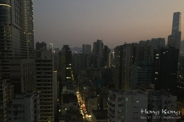 Back in Hong Kong, here's the last sunset of 2017 from our apartment window.