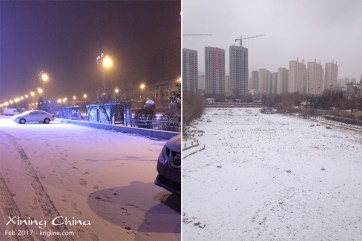 On our last day, it started to snow. We certainly don't see this in hot Hong Kong!