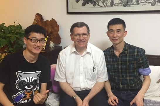 """Vivian, Andrew and I moved to Shanghai in 2000. Our first """"tourist"""" trip was to Xi'an, and there we met (fellow teacher) Liang, who has been a good friend ever since! His son (about Andrew's age) hopes to study abroad soon. Treasured old friendships are one of life's great joys, so it's always a pleasure to see this family again."""
