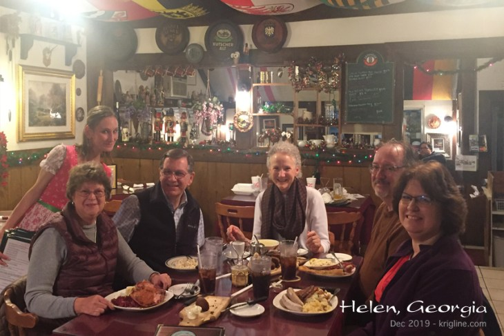 What a delight to share our evening in Helen with friends who used to be colleagues in China! It was definitely worth the drive for us all!