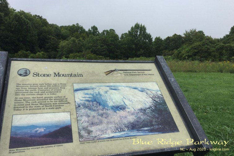 The inset shows how Stone Mountain looks on a clear day; but as you can see, we could see NOTHING in the valley below!