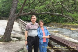 A nice photo of us in front of the Stone Mountain (NC) waterfall, just days after our 31st wedding anniversary.