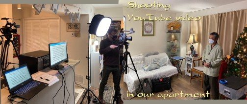 At the last minute, our recording venue fell through...so we shot the emcee at our apartment!