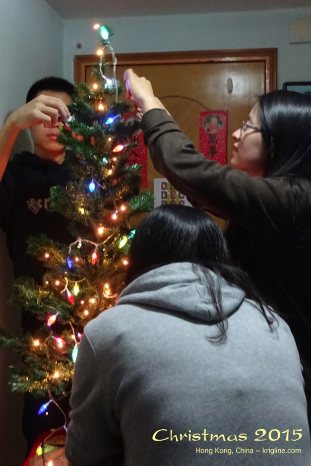 By 2015, we had moved to Hong Kong to work for a charity. But we were thrilled when former students (now in HK working on MAs) joined us at Christmastime!