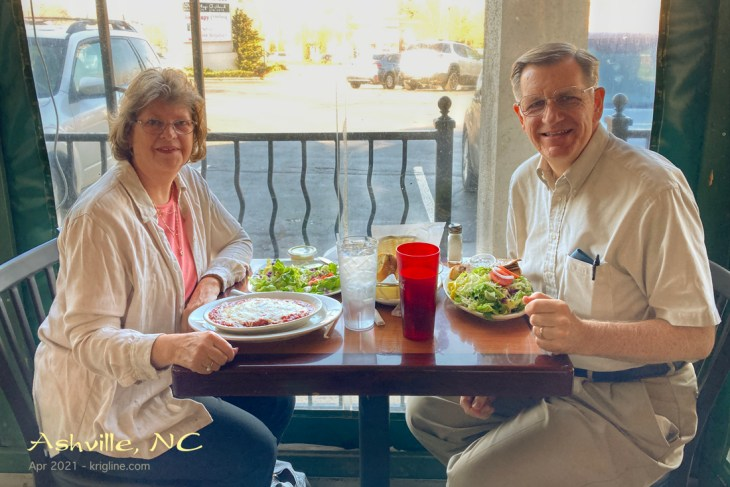 A wonderful Greek meal, just before checking into Ridgecrest