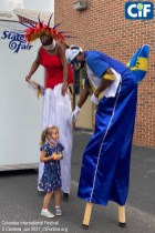 Stilt-Dancers from the US Virgin Islands were a big hit with children (of all ages!).