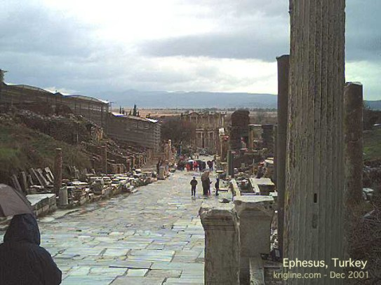 The main street of Ephesus, one of the most important cities in the Roman empire at the time of Jesus.