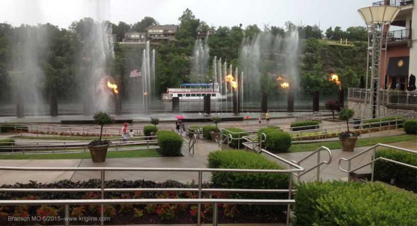 Fountain Show at Branson Landing, June 2015