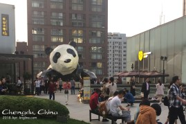 "On the mall's rooftop garden, you get to see ""the better end"" of the giant panda. It's MUCH cuter than King Kong, but I don't think it would make a very good film!"