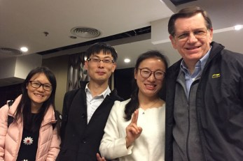 """Tina"" (one of Michael's former students) and friends showed us around ""Canton"" for two wonderful days. We love having former students all over China!"