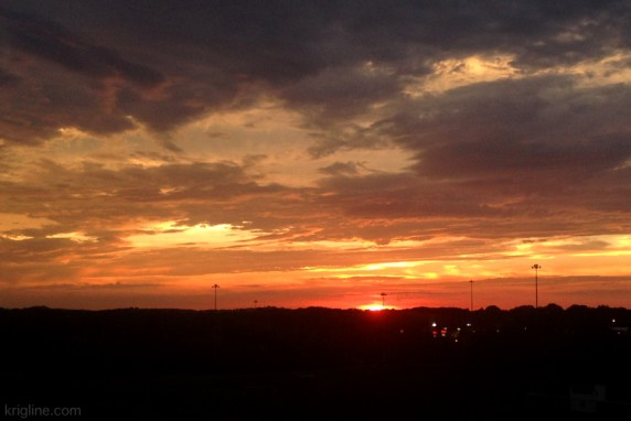 Sunday night, God had this beautiful Ohio sunset in store for us as we headed to our car. Several of us just sat there for 20 minutes, watching in wonder and praise.